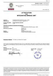 ATTESTATION FOR INTEGRATED BRIDGE UNIT (see www.poseidon.no; Poseidon Simulation AS)