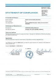GMDSS CLASS A CERTIFICATE FROM DNV GL (see www.poseidon.no; Poseidon Simulation AS)