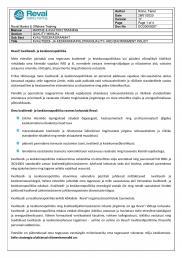 Reval'i kvaliteedi- ja keskkonnapoliitika LK 1