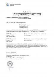 Approval of STCW online safety training content by German Maritime Administration page 2