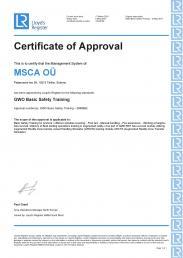 GWO BASIC SAFETY AUGMENTED REALITY TRAINING CERTIFICATE ADDENDUM