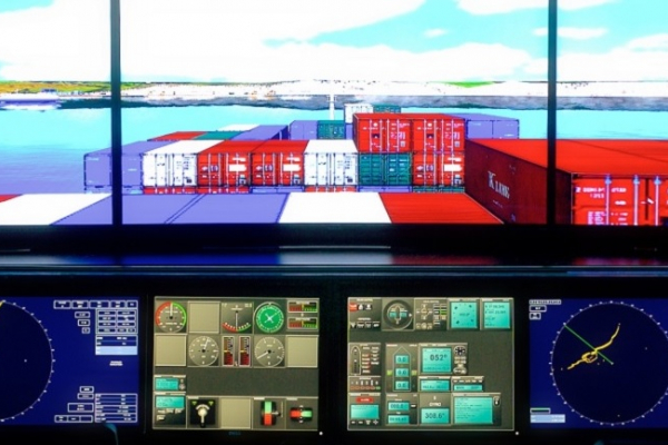 SHIP SIMULATOR, BRIDGE TEAMWORK and BRIDGE RESOURCE MANAGEMENT. LARGE SHIPS HANDLING.