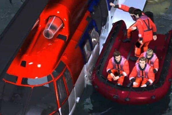 AIRCRAFT (HELICOPTER) CREW SEA SURVIVAL AND HUET TRAINING